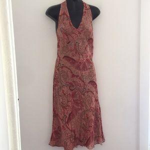 Ann Taylor dress size 8 pink paisley sleeveless